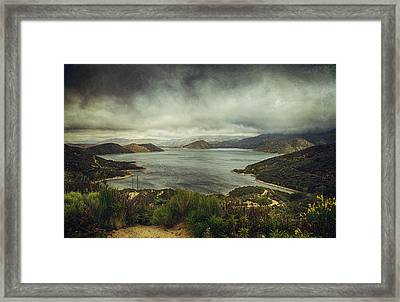 There's A Storm Brewing Framed Print by Laurie Search