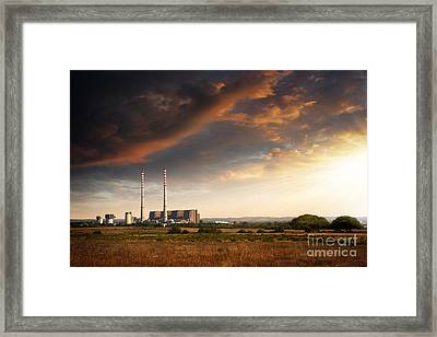 Thermoelectrical Plant Framed Print by Carlos Caetano