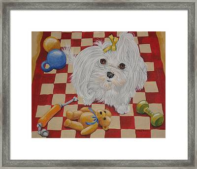 These Are My Toys Framed Print by Laura Bolle