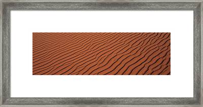 These Are The Pink Sand Dunes In Coral Framed Print by Panoramic Images