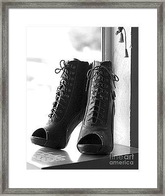 These Boots Framed Print by Telitha Johnson