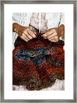 These Hands Framed Print by Stephanie Frey