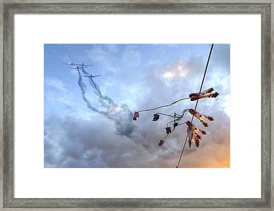 They Are Coming... Framed Print by Genevieve Van Doren