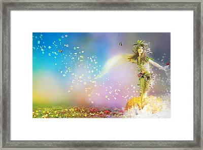 They Call Me Spring Framed Print by Mary Hood