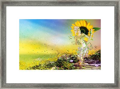 They Call Me Summer Framed Print by Mary Hood