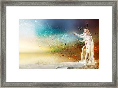 They Call Me Winter Framed Print by Mary Hood