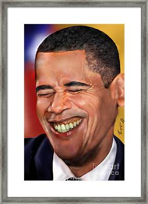 They Called Me Mr. President 1 Framed Print by Reggie Duffie