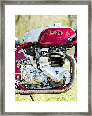 They Come In Red And Chrome Framed Print by Tim Gainey
