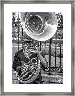 They Say It's The Sousaphone Players You Have To Look Out For... Framed Print by Kirk Cypel