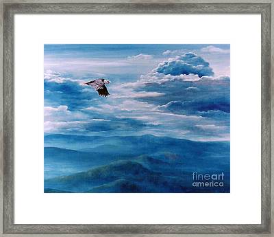 They Shall Mount Up On Wings Of Eagles Framed Print by Ann  Cockerill