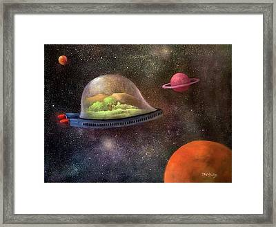 They Took Their World With Them Framed Print by Randy Burns aka Wiles Henly