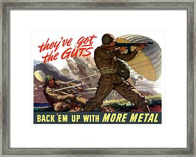 They've Got The Guts Framed Print by War Is Hell Store