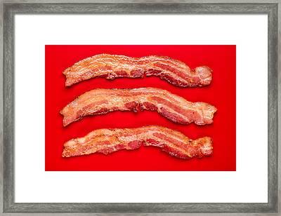 Thick Cut Bacon Framed Print by Steve Gadomski
