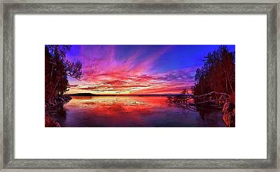 Thin Ice 1 Panorama Framed Print by Bill Caldwell -        ABeautifulSky Photography