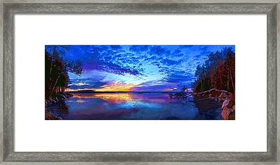 Thin Ice 2 Panorama Framed Print by Bill Caldwell -        ABeautifulSky Photography