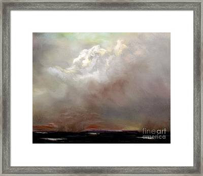 Things Are About To Change Framed Print by Frances Marino