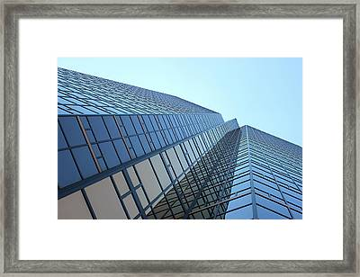Things Are Looking Up Southfield Michigan Town Center Building Perspective Framed Print by Design Turnpike