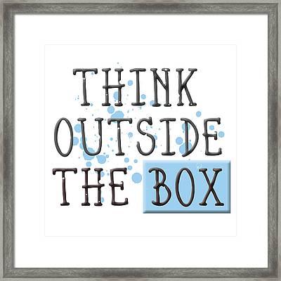 Think Outside The Box Framed Print by Melanie Viola