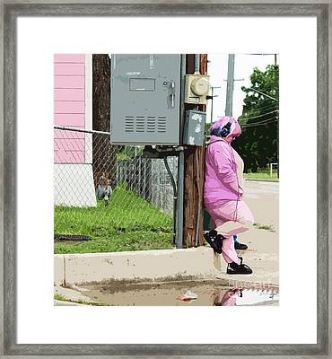 Think Pink Framed Print by Joe Jake Pratt