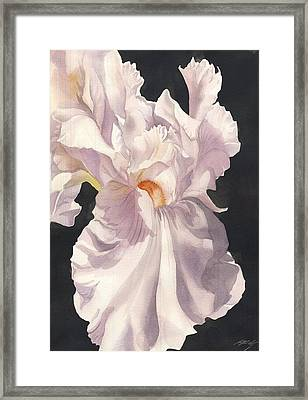Thinking Black While In Pink Framed Print by Alfred Ng