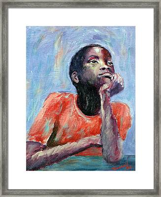 Thinking Framed Print by Carlton Murrell