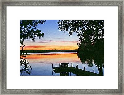 Thinking Of You Framed Print by Bill Morgenstern