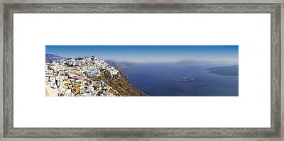 Thira Santorini Panorama Framed Print by Evgeny Ivanov