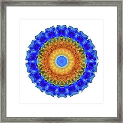 Third Eye Mandala Art By Sharon Cummings Framed Print by Sharon Cummings