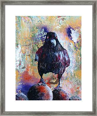 This Ebony  Bird Framed Print by Sandy Applegate