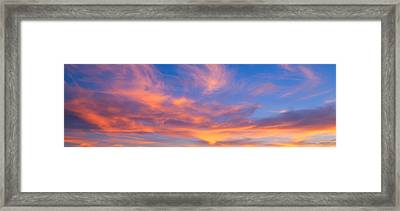 This Is A Sunset Sky Framed Print by Panoramic Images
