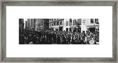 This Is A Ticker Tape Parade Framed Print by Panoramic Images