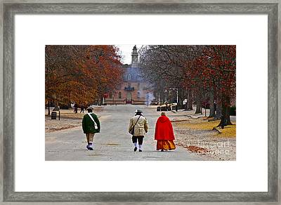 This Is Colonial Williamsburg Framed Print by E Robert Dee