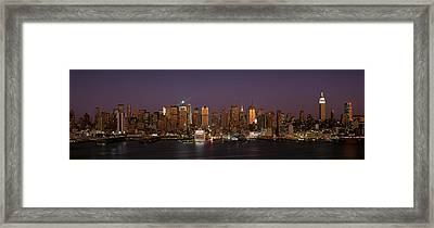 This Is Midtown Manhattan And The East Framed Print by Panoramic Images