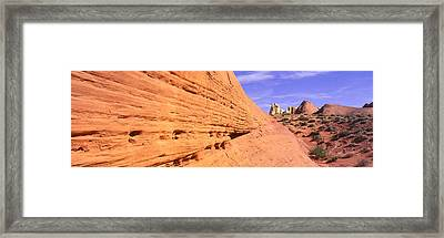 This Is Nevadas First State Park In Red Framed Print by Panoramic Images