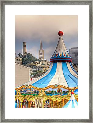 This Is San Francisco 1 Four Towers Framed Print by Paul W Sharpe Aka Wizard of Wonders