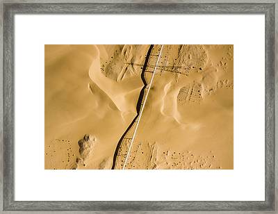 This Is The Longest Phosphate Conveyor Framed Print by Michael Fay