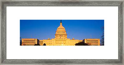 This Is The U.s. Capitol At Sunset. It Framed Print by Panoramic Images
