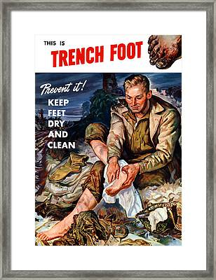 This Is Trench Foot - Prevent It Framed Print by War Is Hell Store