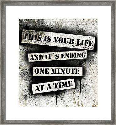 This Is Your Life - Fight Club Framed Print by Nicklas Gustafsson