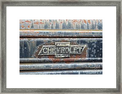 This Old Chevrolet Framed Print by Emily Kay