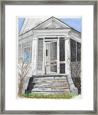 This Old House Framed Print by Laurie With