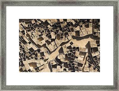 This Old Salt Slab Town In Dirkou Framed Print by Michael Fay