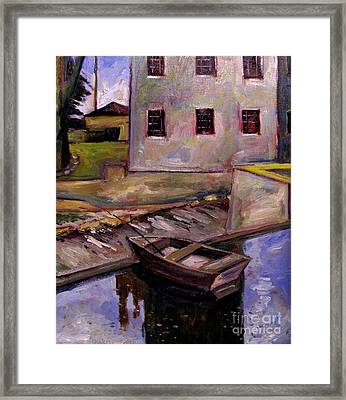 This One Got Away Plein Air Framed Framed Print by Charlie Spear