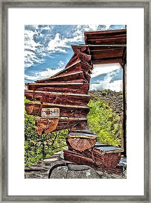 This Way Up Framed Print by Katherine Halstead