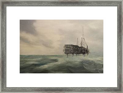 Thistle Alpha-north Sea Framed Print by Douglas Ann Slusher