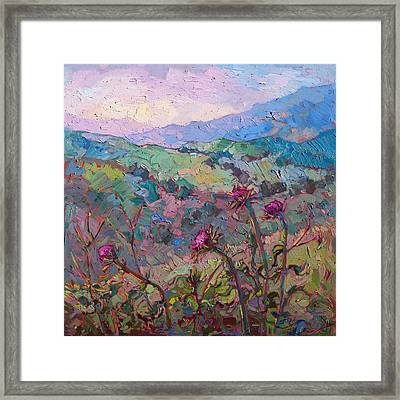 Thistles At Paso Framed Print by Erin Hanson