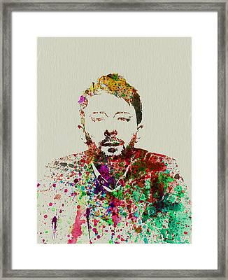 Thom Yorke Framed Print by Naxart Studio