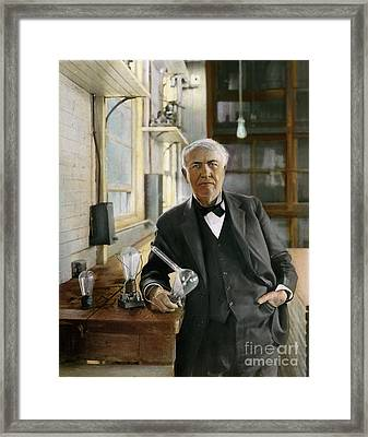Thomas Edison Framed Print by Granger