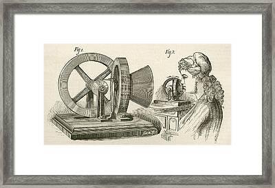 Thomas Edison S Sound Meter. A Machine Framed Print by Vintage Design Pics