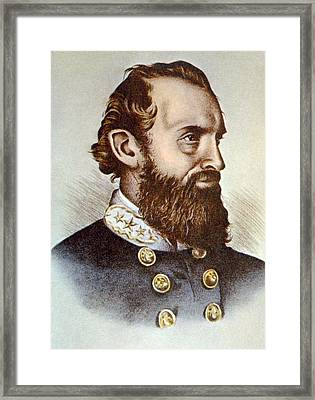 Thomas J. Stonewall Jackson 1824-1863 Framed Print by Everett